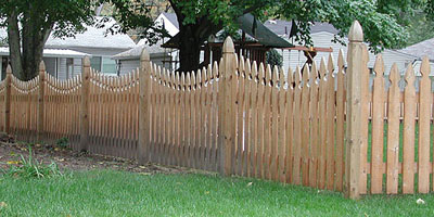 Scalloped Picket Fence built by Elyria Fence