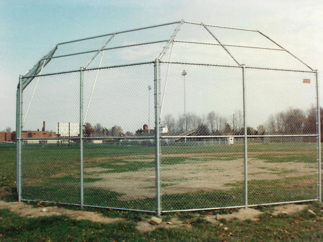 Industrial Chain Link Baseball Backstop