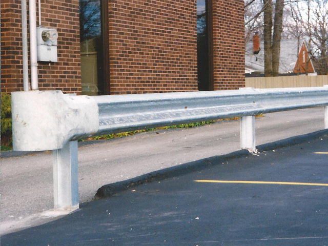American Made Steel Guard Rail Fence on Steel Posts by Elyria Fence