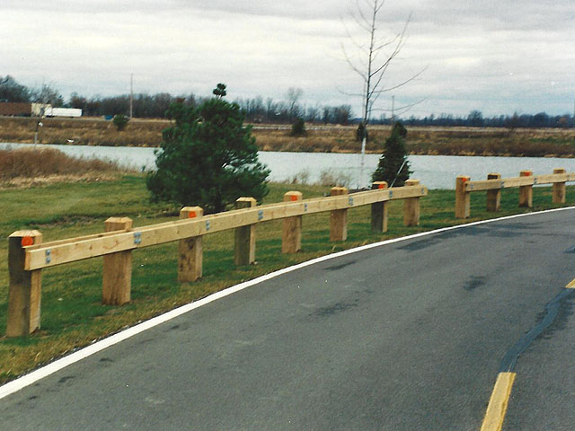 Wooden Guard Rail Fence by Elyria Fence