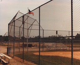 Baseball Field Backstop and Outfield Fence