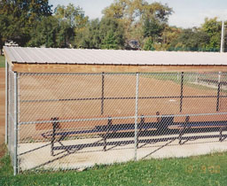 Baseball Field Dugout Enclosure