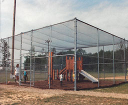 Commercial Chain Link Playground Enclosure