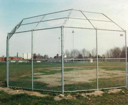 Chain Link Baseball Backstop