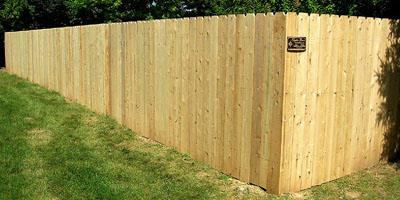 Standard Runner Cedar Privacy and Picket Fencing
