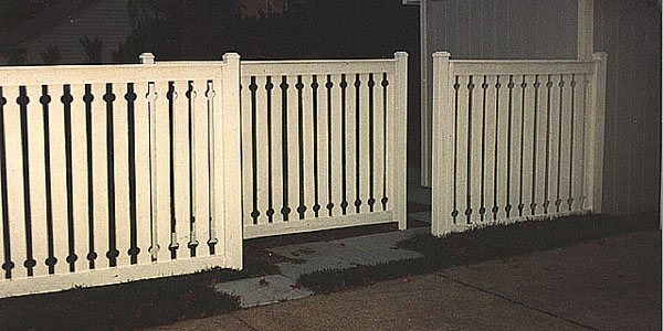 Good Neighbor Cedar Spaced Fencing with holes top and bottom by Elyria Fence