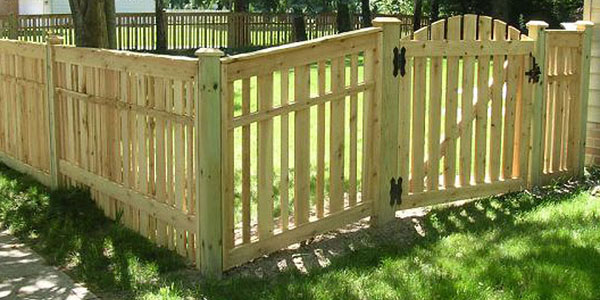 Good Neighbor Cedar Semi-Privacy Fencing by Elyria Fence