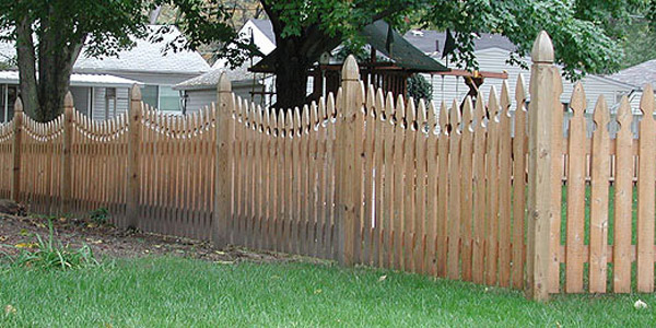 Reverse Runner Cedar Picket Fence by Elyria Fence Company
