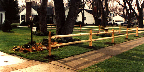 2 Rail Spliit Rail Fencing by Elyria Fence Company