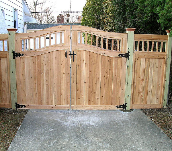 Good Neighbor Cedar Privacy Fencing with spindles by Elyria Fence