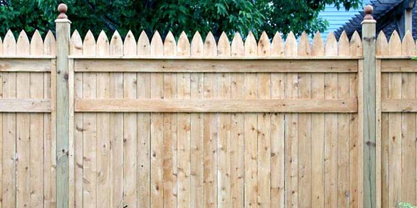 Good Neighbor Cedar Privacy Fencing with Picket Boards by Elyria Fence
