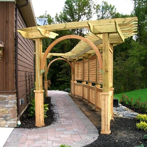 Pergola for a Wisteria Vine