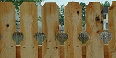 Cedar Picket Fencing buillt by the Elyria Fence Company