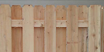 Cedar Shadowbox (board on board) privacy fencing buillt by the Elyria  Fence Company