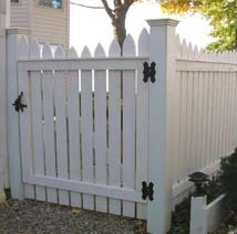 spaced picket gate by elyria fence