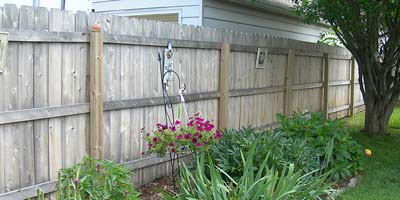 Cedar Privacy Fencing built by Elyria Fence company