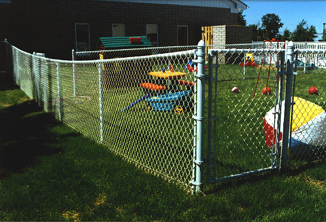 Aluminized (Rust Proof) Chain Link Fence by Elyria Fence