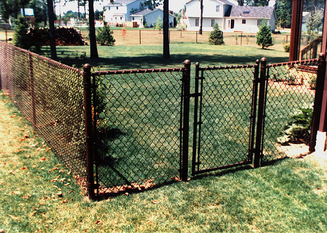 Brown Vinyl Coated Chain Link Fence by Elyria Fence