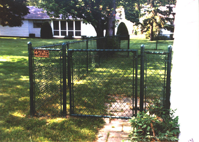 Green Vinyl Coated Chain Link Fence by Elyria Fence
