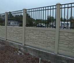 Beige Granite Faux Stone Fence by Simtek