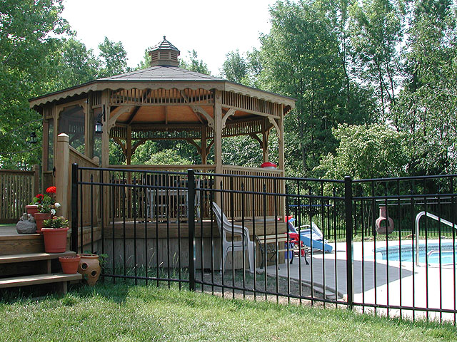 Ornamental Aluminum/Wrought Iron Fence by Elyria Fence