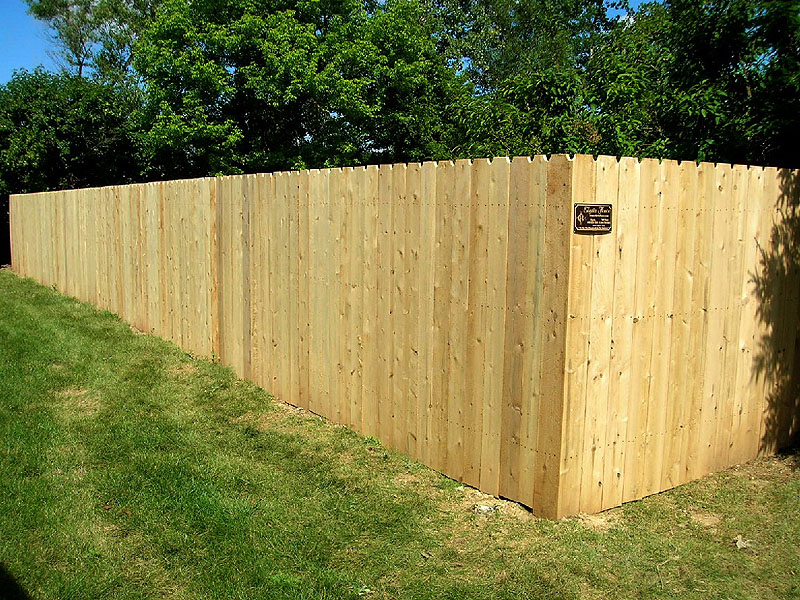 White Cedar Privacy Fence by Elyria Fence
