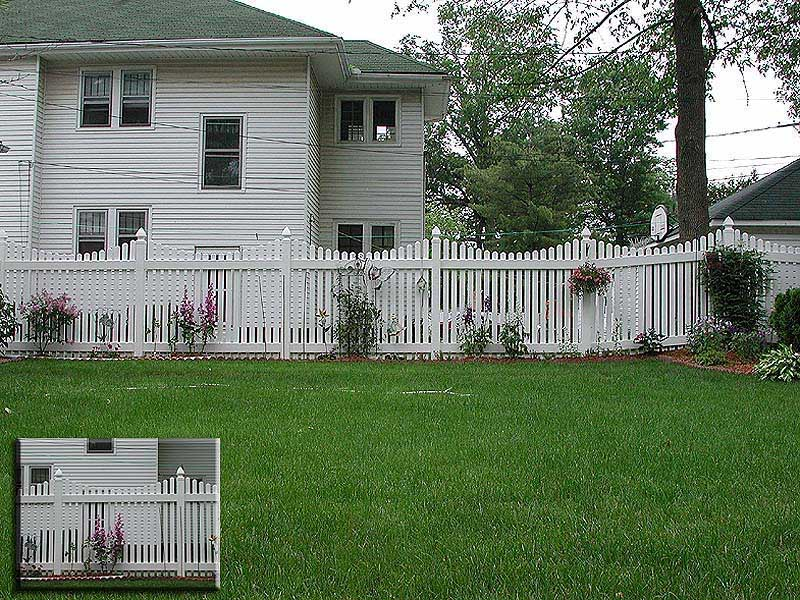 Vinyl Scalloped Picket Fence by Elyria Fence