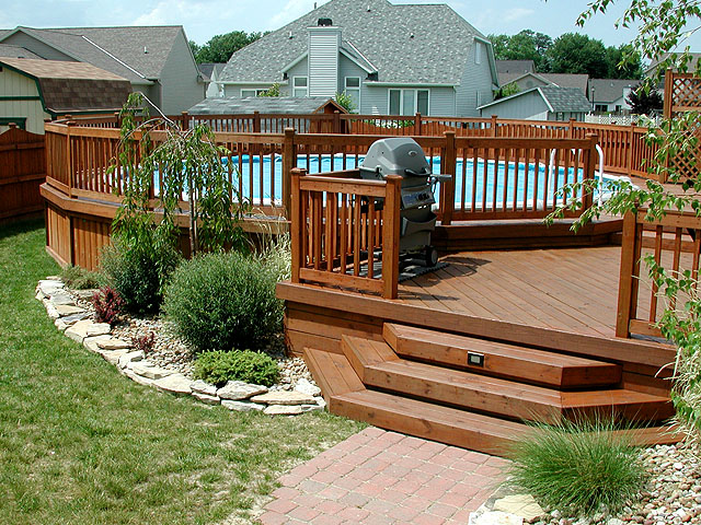 Of Decks Around Above Ground Pools Pool Design Ideas Pictures