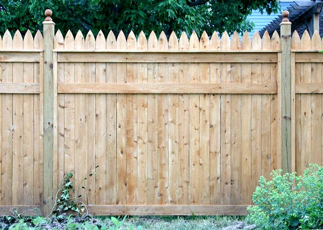 White Cedar Picket Privacy Fence by Elyria Fence