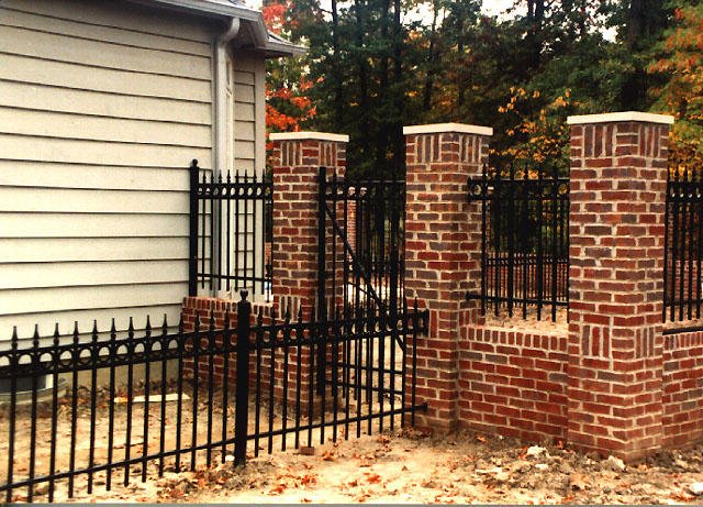 Wrought Iron Picket Fence with Finials & Circles by Elyria Fence