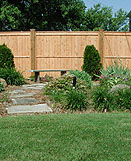Privacy Wood Fence, Good Neighbor by Elyria Fence