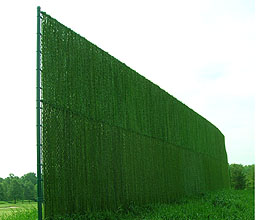 Hedgelink weave in chain link fence by Elyria Fence