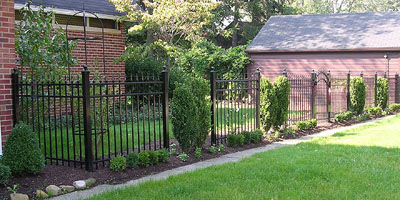 Ornamental Aluminum Iron Arched Gate by Elyria Fence