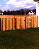spaced white cedar wooden classic fence by elyria fence
