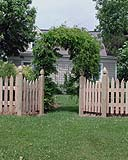 White Cedar Wood Scalloped Picket Fence by Elyria Fence