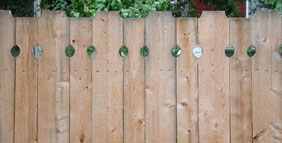 privacy wood fence by elyria fence