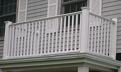 Vinyl Balcony Railing by Elyria Fence