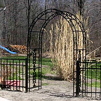 ornamental aluminum iron arbor by elyria fence
