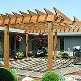 wood sun trellis by elyria fence