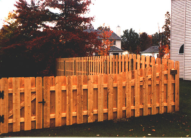 Shadowbox Privacy Fence by Elyria Fence
